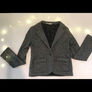 H&M grey kids blazer with 2 pockets in front